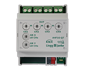 KNX quick switching actuator 4 channels with selectable switch off times period from 5 seconds up to 20 minutes by Lingg & Janke
