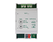 KNX quick switching actuators by Lingg & Janke with 2, 4, 6, or 9 channels and a switching capacity 16 A at 250 V AC